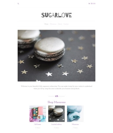 Preview of the 'Classic - Sugar' theme.